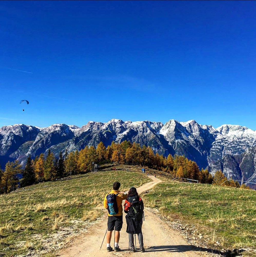 Austria mountains couple