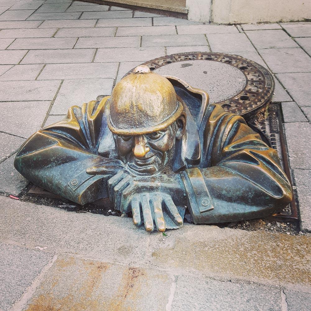 Square Slovakia Bratislava soldier statue