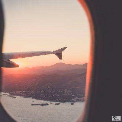 Plane by window