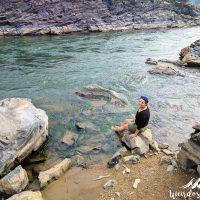 Perine refreshing in the Mekong
