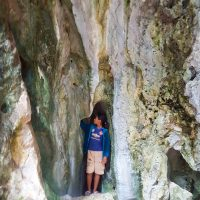 And that is the entrance to the cave that stretches to the bottom of the mountain