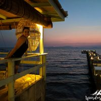 Perine with the sunset of Kep