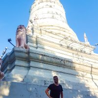Little Silviu, big stupa