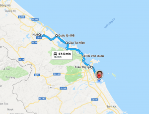 Our itinerary from Hue to Hoi An