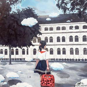 Mural school girl