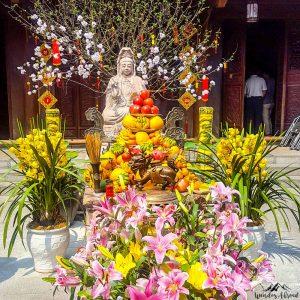 One pilar pagoda temple