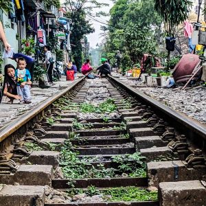 Train Track in the city of Hanoi