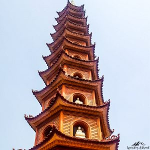 West Lake temple pagoda