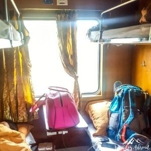 Sleeping compartment of the Train
