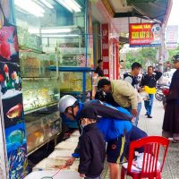 street selling fish Hue