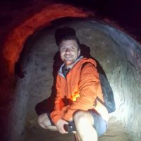 Silviu in a family room, Vinh Moc Tunnel