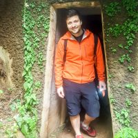 Silviu exiting the Vinh Moc Tunnel