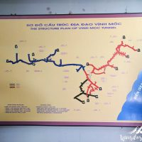 Map of the Vinh Moc tunnel