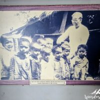 Picture of the children born in the Vinh Moc tunnel
