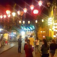 The streets of Hoi An will all the lanterns at night