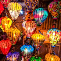 The beautiful silk lanterns of Hoi An