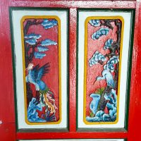A painted door in a temple