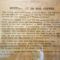 Goc Ha Noi, history of egg coffee