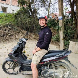 Silviu rides a motorcycle for the 2nd time