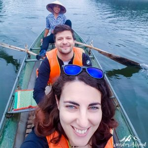 River selfie on Tam Coc river