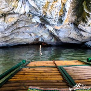 Entering a cave by boat