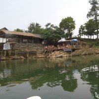 River bar in Vang Vieng. Photo taken from the kayak.