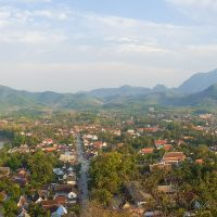 The Eastern side of Luang Prabang, with the Nam Khan river