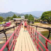 Perine on a moving bridge