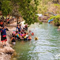 Korean tourists at the Blue lagoon