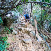 Silviu climbing ahead