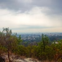Beautiful view over Chiang Mai... cloudy weather but it is much better for our hike!