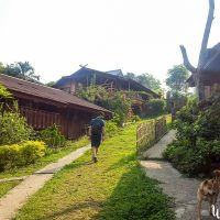 Walking in Pai village
