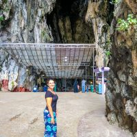 At the entrance of the Cathedral Cave