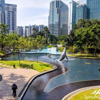 KLCC Park: the kids pool is in the back!