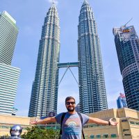 The Petronas Tower by day with SIlviu