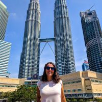 The Petronas Tower by day with Perine
