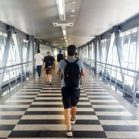 The Petronas group built walking bridges from KLCC to Bukit BIntang!