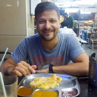 Indian breakfast before taking the bus to Singapore!
