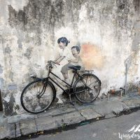 Kids on a bicycle