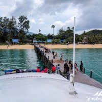 Boarding the ferry in Samui