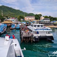 Arrival at Koh Tao's pier
