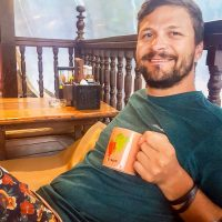 Stormy weather? Silviu gets a warm tea...
