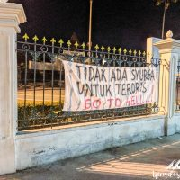 Manifestations against terrorist attacks... a few days after the awful attack in Surabaya, north of Java.
