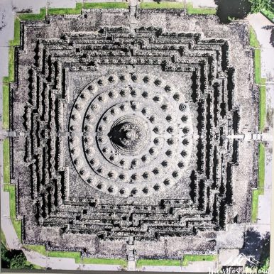 Borobudur temple from above