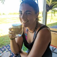 Coffee by the rice fields