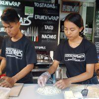 Sizzle Wraps family chef team!