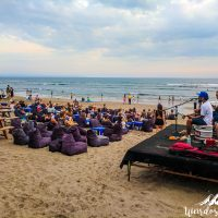 Chilling on the beach with live music!