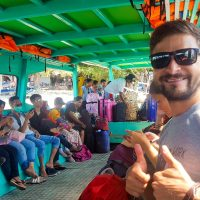 On the public ferry - Lombok we are coming!