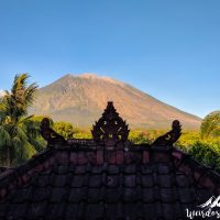 View of Mount Agung from the balcony.