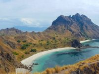 Padar island is beautiful. A view from the top of the island.